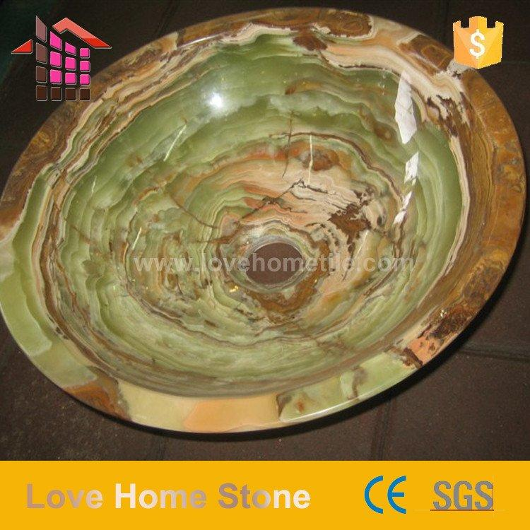 Marble Stone Basin & Sink - Glossy Stone Basin