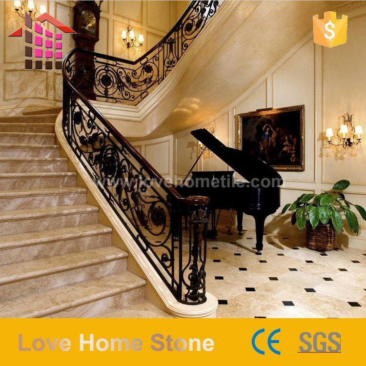 natural marble stone stair luxury for five star hotel
