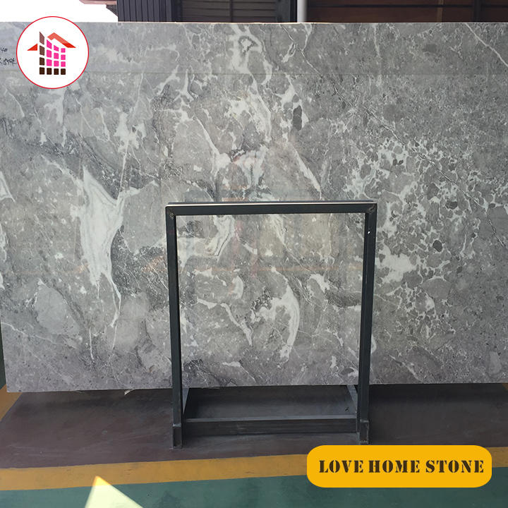 Dolores  | Tundra Grey Marble Slabs Wall Covering