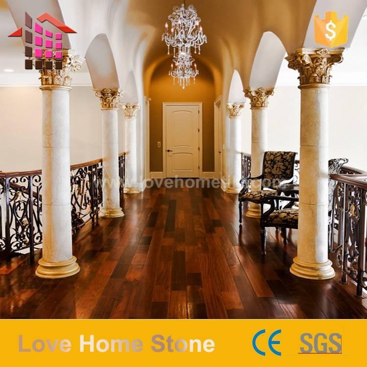 natural marble design square, round Roman column, pillar design