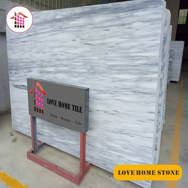 Hellen  | China Supplier Natural White with Grey Vein Marble Slabs Wall or Floor Tiles
