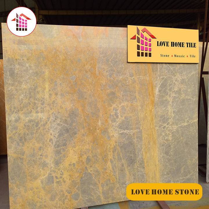 Angel   | China Supplier Natural Grey With Yellow Veins Marble Slabs Wall or Floor Tiles